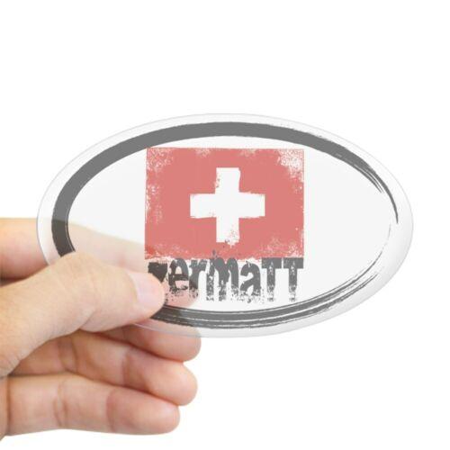 722284762 Oval CafePress Zermatt Grunge Flag Sticker