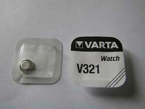 10x V321 Silber-Oxid Uhrenknopfzelle Batterie 1,55V SR65 Varta