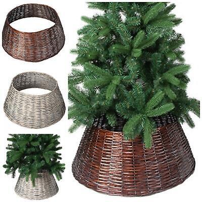 57 X 28CM BROWN CHRISTMAS TREE WILLOW SKIRT BASE COVER TREE SKIRT XMAS
