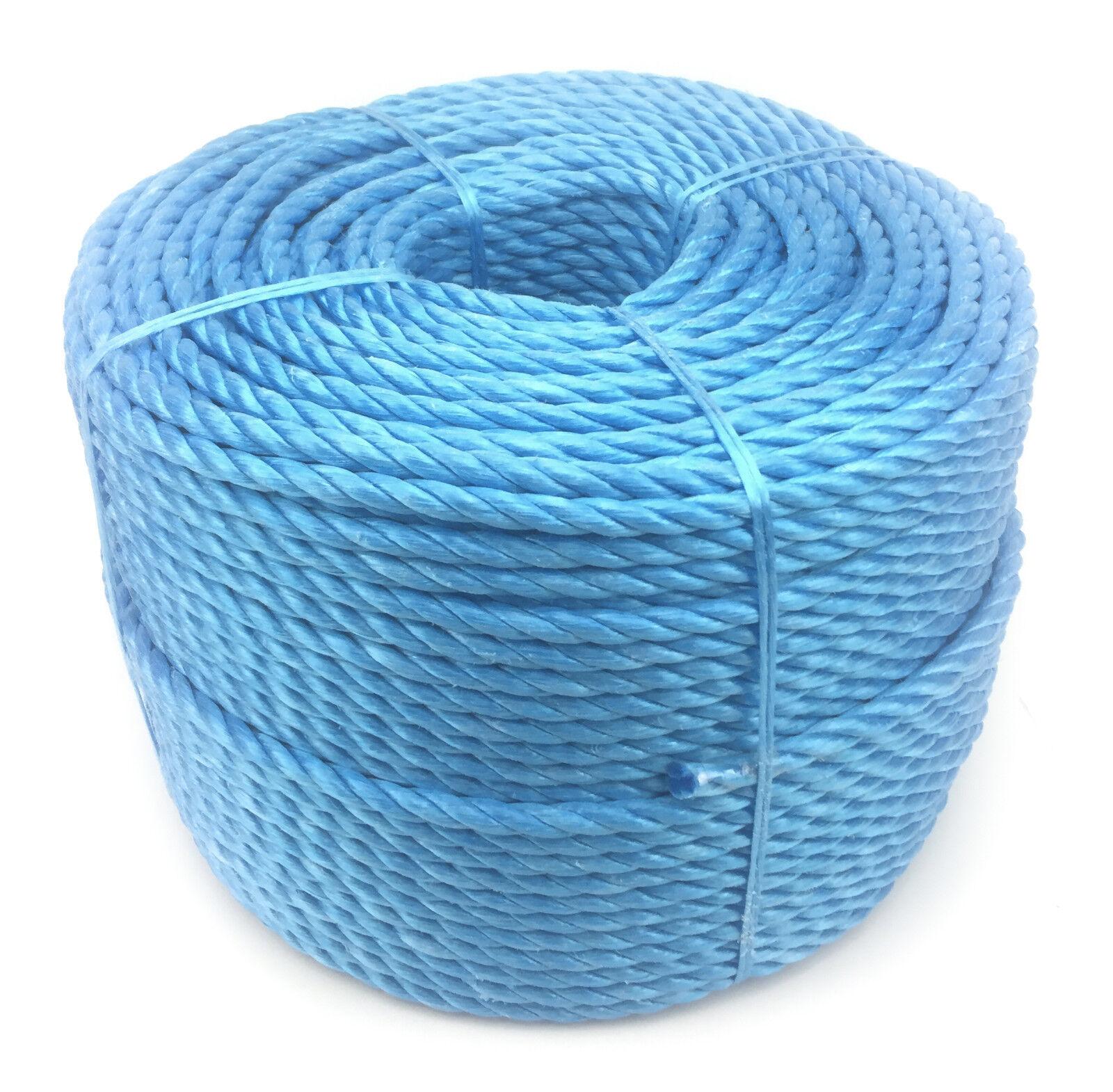 16mm blau POLYPROPYLEN SEIL x 100 Meter, Poly-Seil Rollen, preiswert Nylon Seil