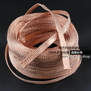 2mm-20mm-Flat-Copper-Braid-cable-Bare-copper-braid-wire-ground-lead-Q21D-ZX