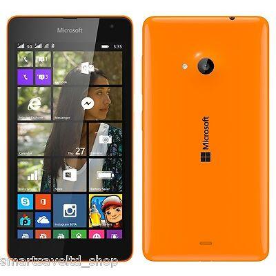 "brand new LUMIA 535 ORANGE 5"" UNLOCKED SMARTPHONE SIM FREE WIN 8.1 3G SMARTPHONE"