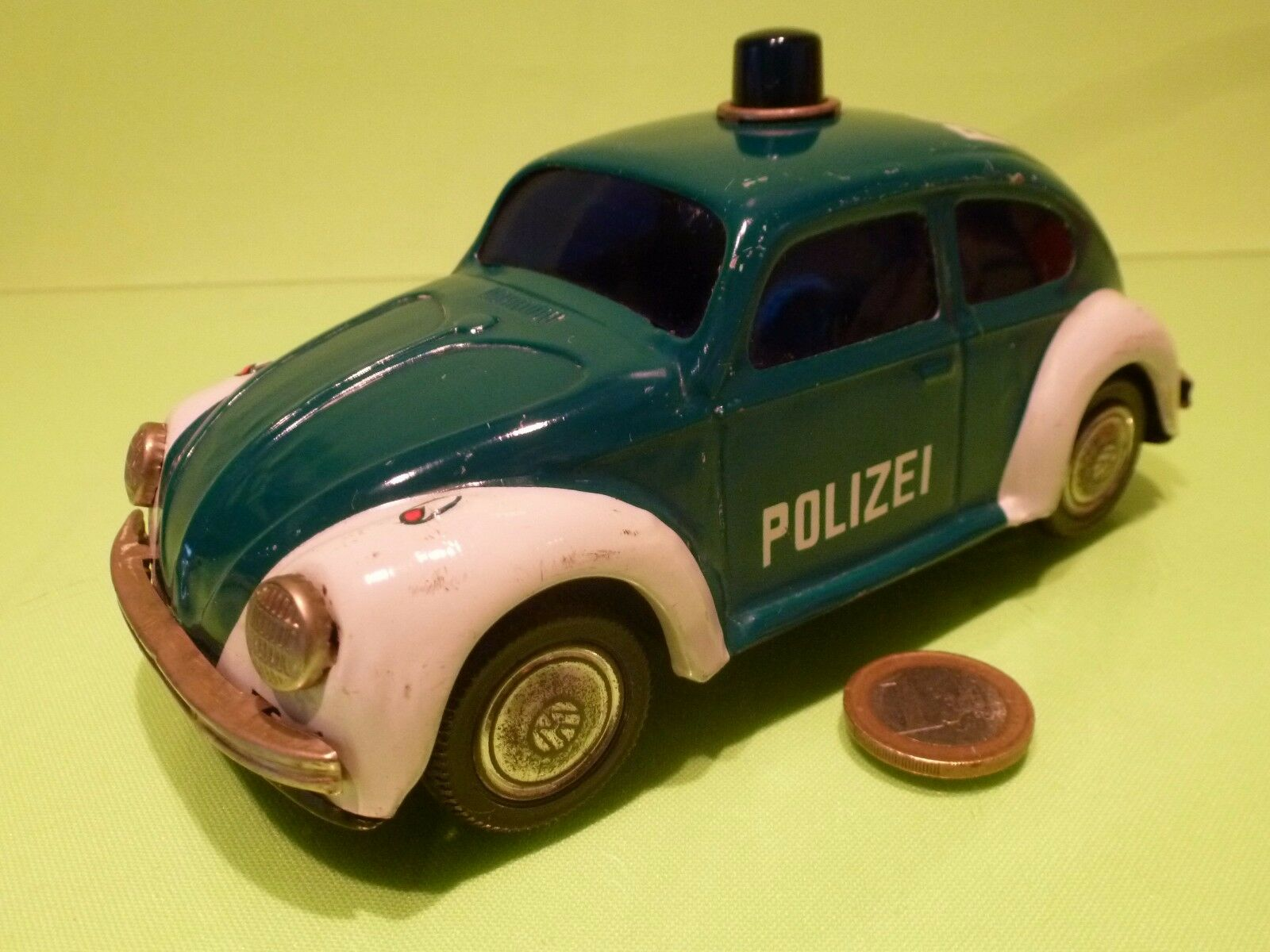 JAPAN TIN TOYS BLECH VW VOLKSWAGEN - POLIZEI - L17.0cm FRICTION - GOOD CONDITION