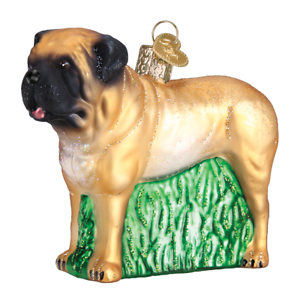 034-English-Mastiff-034-12527-X-Old-World-Christmas-Glass-Ornament-w-OWC-Box