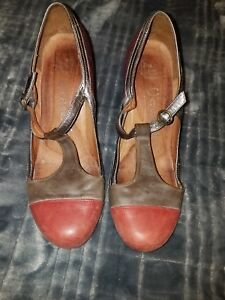 8eed0daf9a872 Details about JEFFREY CAMPBELL IBIZA LAST Strap Leather Heel Shoe Women  Size 8.5