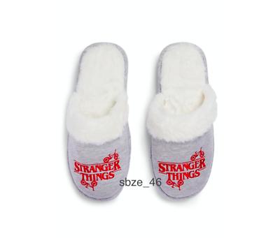Stranger Things Ladies Grey Slippers Women Home Slippers Christmas New Gift