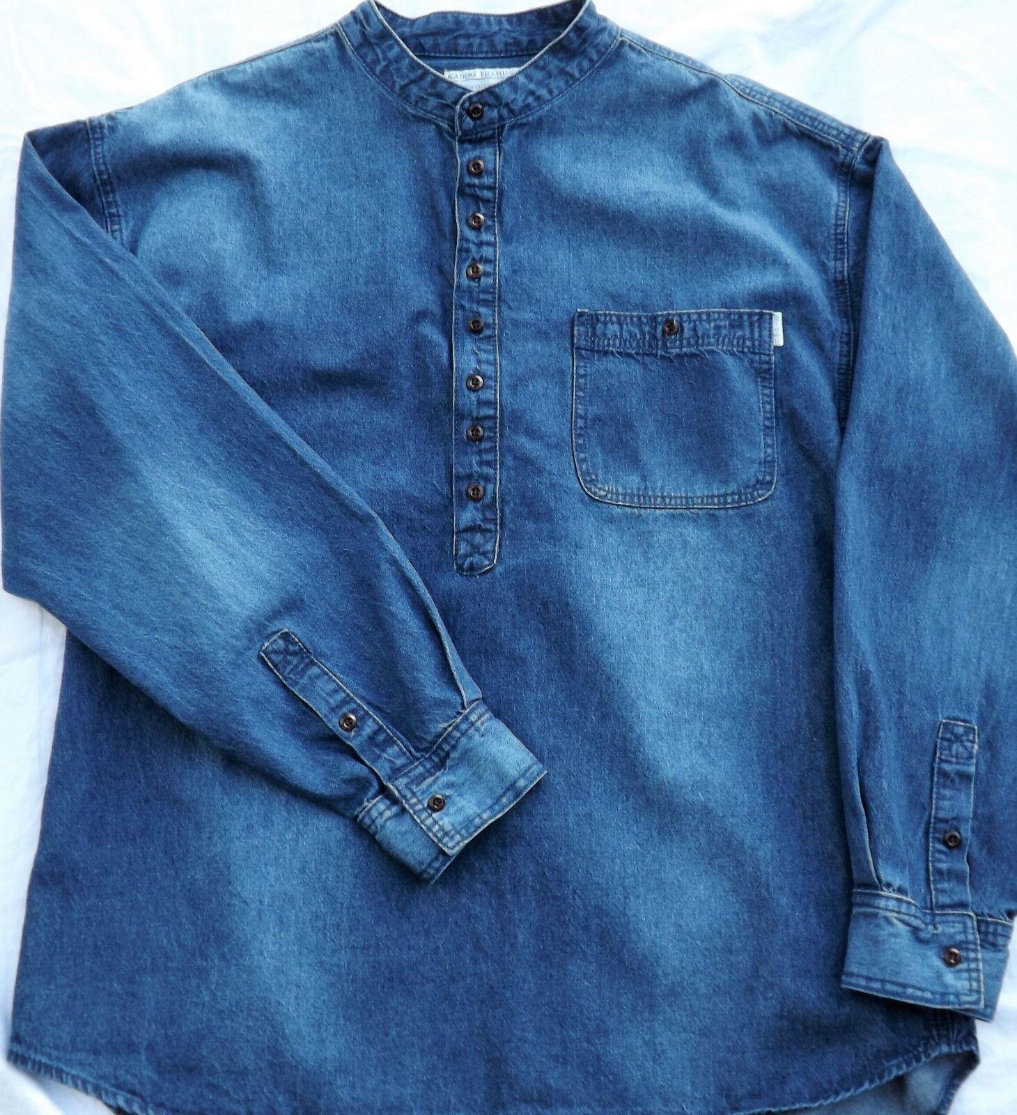 Grandad Shirt in Soft Denim Denim Denim Kaboo Trading Originals different by design | Attraktive Mode  | Moderater Preis  | Deutschland Online Shop  99a9fb
