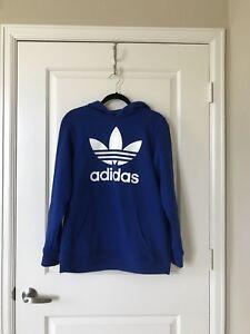 Details about Adidas Originals Big Kid Boy's Blue Hoodie, Size XL