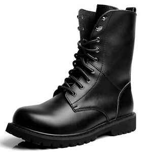 Size-6-13-New-Genuine-Leather-Mens-Casual-Military-Combat-High-Top-Boots-Shoes