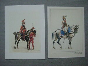 Reproduction-de-dessin-Carabinier-de-Monsieur-trompette-1818-1821-et-lancier