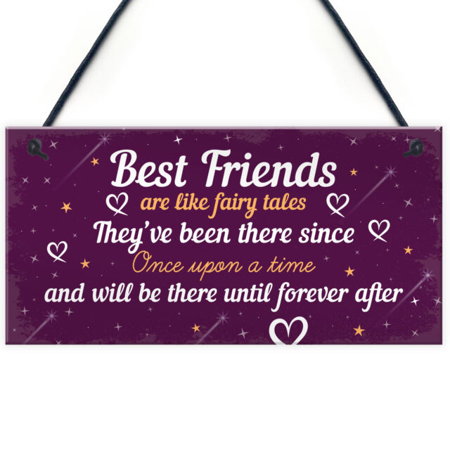 Birthday Gifts For Best Friend Hanging Plaque Christmas Card Gift Thank You Sign Sale Online