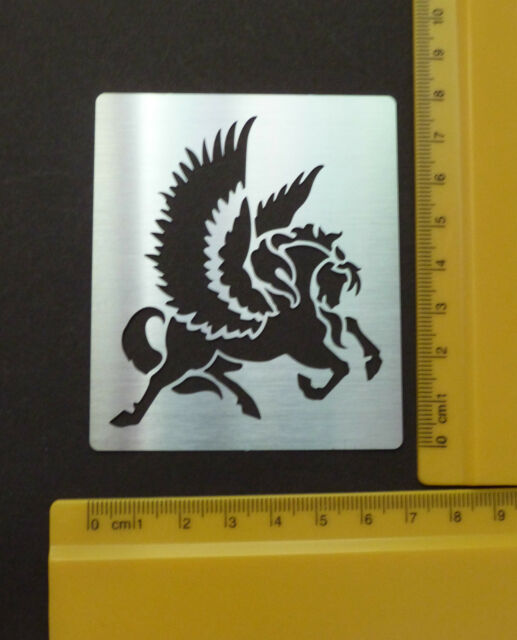 Metal/stencil/Oblong/Flying/Horse/Pegasus/Emboss/NEW/NICE