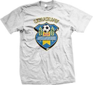 Uruguay-AUF-Uruguayan-Football-Association-Soccer-World-Cup-Shield-Mens-T-shirt