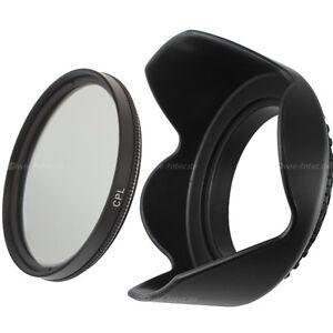 52mm CPL Filter Zirkular Polfilter & Sonnenblende für 52mm
