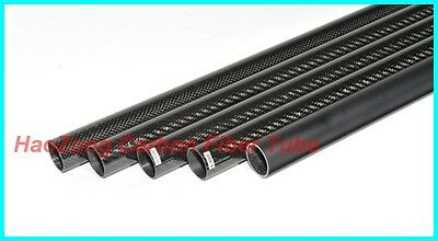 8MM OD x 6MM ID x 500MM Carbon Fiber Tube 3k 8*6 (Roll Wrapped) carbon pipe -UK