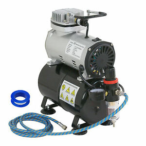 1-5-HP-Airbrush-Air-Brush-Compressor-Kit-With-3L-Tank-Paint-Hobby-Cake-Tattoo