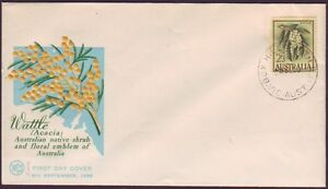 1959 2/3 WATTLE ON WESLEY FIRST DAY COVER - UNADDRESSED (RU2766)