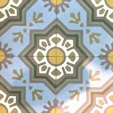 8X8 Green Envy Matte Encaustic Cement Tile Floor and Wall (Sold by Piece)