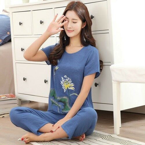 Female Pajamas Set Sleepwear Chinese Women Cotton Linen Nightwear