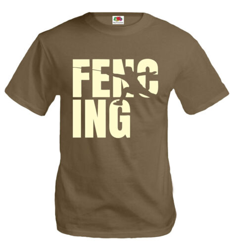 buXsbaum® Herren Unisex T-Shirt Fencing Type Fechten Fechtsport Fechter Fecht-WM