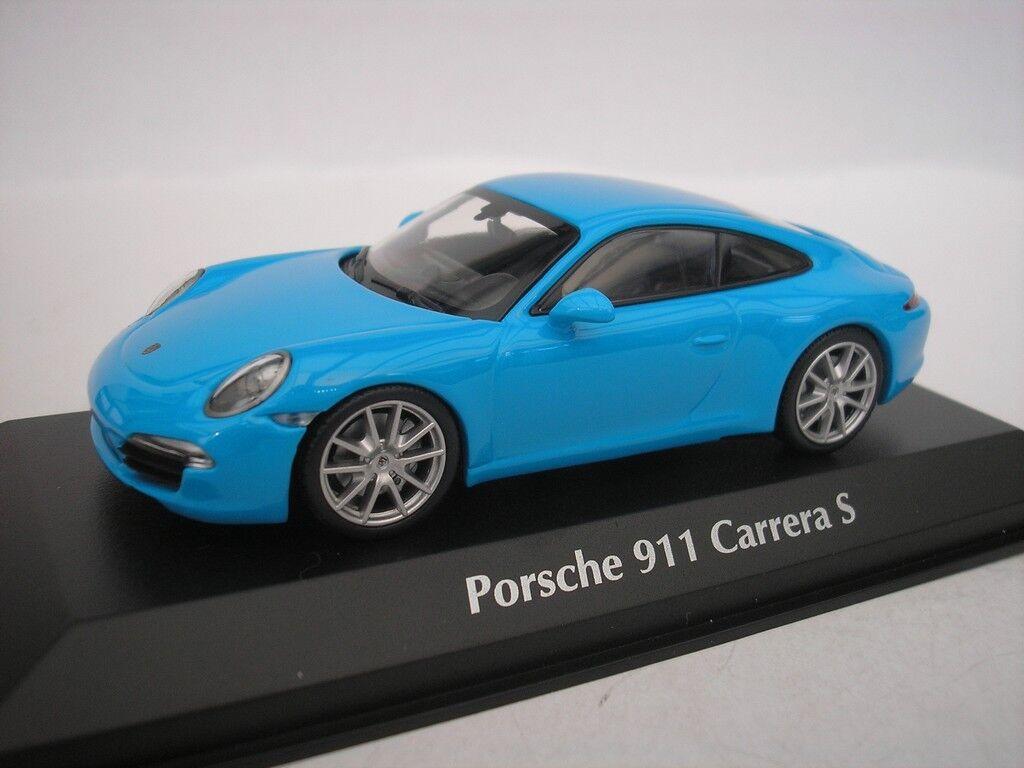 Porsche 911 Carrera S 2012 bluee 1 43 maxichamps 940060220 NEW