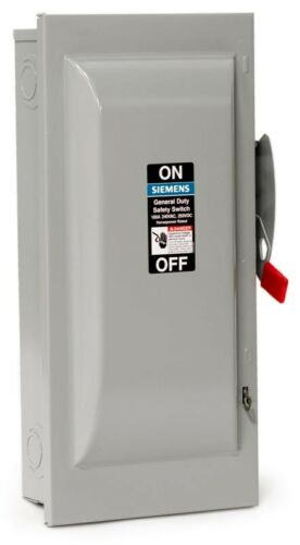 NEMA-1 SIEMENS GF323N 100A 240V 3P 4-Wire Fusible General Duty Safety Switch