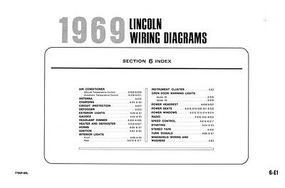 1969 Lincoln Full Line Wiring Diagram Schematic Drawings ...