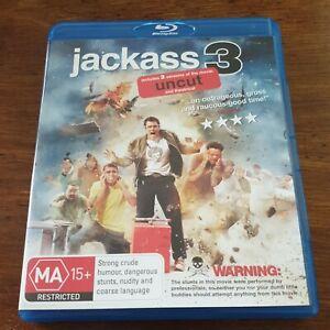 Jackass 3 Uncut Bluray LIKE NEW! FREE POST
