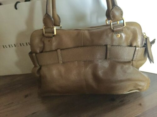 Braun Edel Burberry Khaki Original Luxus Shopper Tasche Handtasche Leder 1BFawqS
