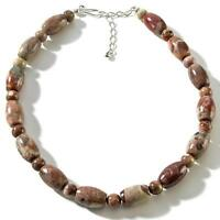 Jay King Australian Great Victoria Sandstone Sterling Silver Beaded Necklace