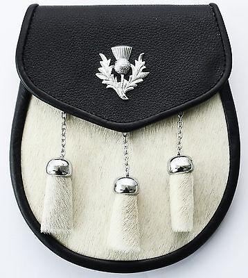 Hamilton Kilts Sporran portefeuille /écossais Highland en cuir avec cha/îne pour la taille