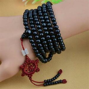 Tibetan-Sandalwood-Buddhist-Buddha-216-Gebetskette-Mala-Armband-Halskette