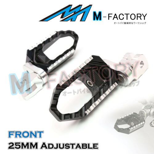 Fit S1000XR 2015-2018 R1200GS 2013-18 Billet Extended Front Rider Wide Foot Pegs