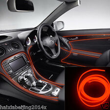 6.5ft RED EL-Wire 12V Car Interior Decor Fluorescent Neon Strip Cold light Tape