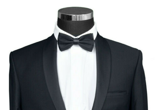 Smoking Schwarz in Slim und Regular Fit 44-64-Bräutigam Anzug Herrenanzug Bühne