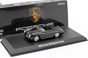 Porsche-356-Speedster-Super-Open-Top-Baujahr-1958-schwarz-1-43-Greenlight