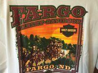 Harley Davidson Fargo, Nd Bar & Shield Stagecoach Design T-shirt, Size 3xl,