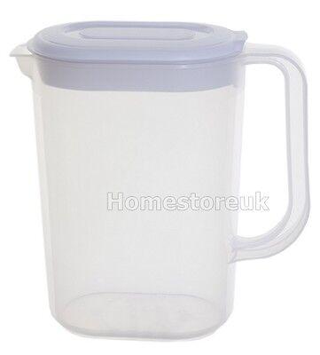 Home & Garden Kind-Hearted 1.5l Whitefurze Jug Plastic Fridge Milk Orange Juice Water With Lid And Handle Large Assortment Kitchen Storage & Organization