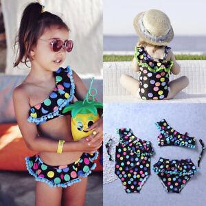 14ec0f66f5 Image is loading Toddler-Kids-Baby-Girls-Tankini-Bikini-Swimwear-Swimsuit-