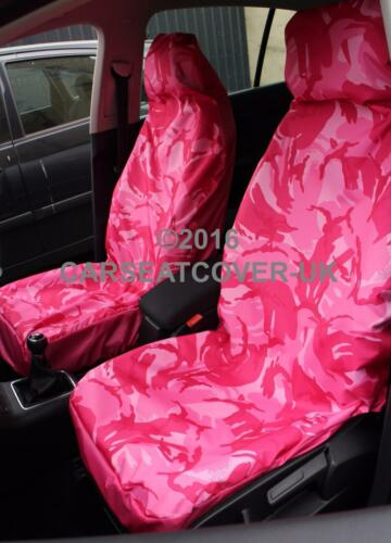 2010- 2 Fronts Pink Camouflage Waterproof Seat Covers For Nissan Qashqai+2