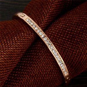 Delicate-Women-Alloy-Gold-plated-Cuff-Bangle-Jewelry-Charm-Crystal-Bracelet-Gift