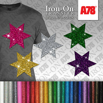 Glitter Letters /& Numbers Iron on HotFix FABRIC T-SHIRT TRANSFER SEQUIN Stickers