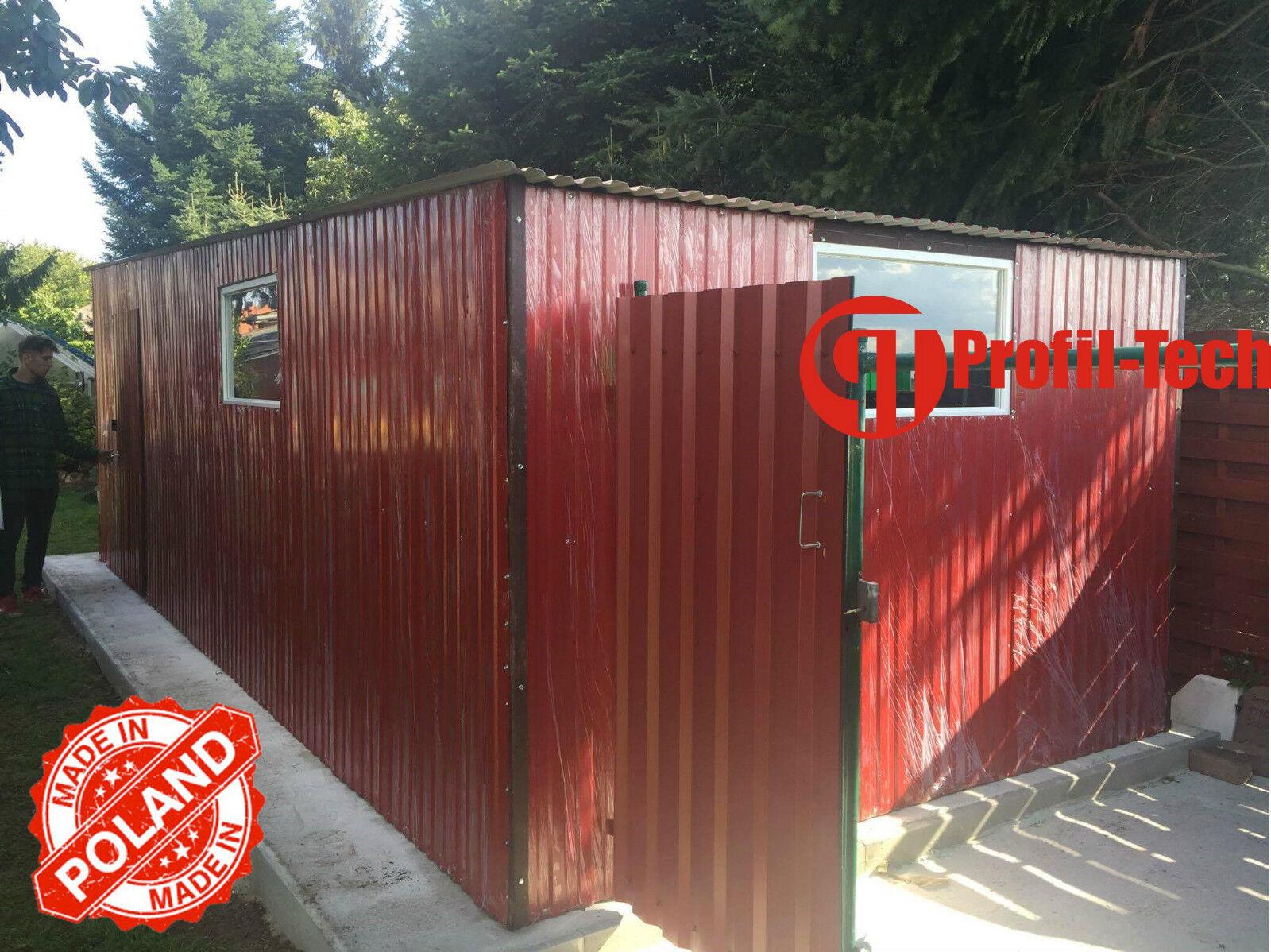 2,5x5,5 R3005 Blechgarage Fertiggarage Metallgarage RAUM KFZ REIFEN LAGER GARAGE