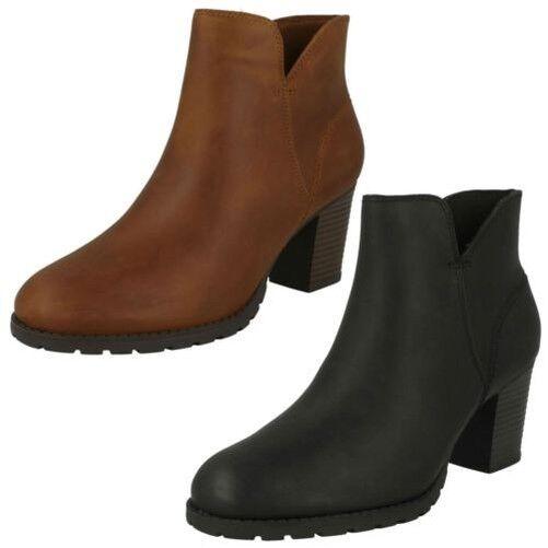 Para Mujer Mujer Mujer - Clarks -zip Up-Ankle botas-Verona Trish  barato en alta calidad