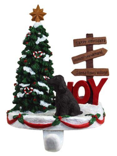 English Cocker Spaniel Stocking Holder Hanger Black
