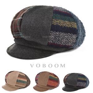 VOBOOM-femmes-casquette-de-gavroche-chapeau-d-039-hiver-confortable-doux-et-chaud