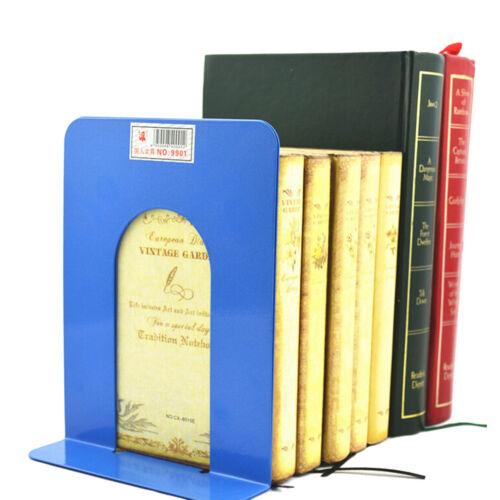 "2X 6.7/"" L-Shaped Bookend Anti-skid Solid Metal Shelf Book Holder Home Office DSU"