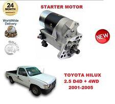 FOR TOYOTA HILUX MK2 2.5 D4D + 4WD 2001-2005 DENSO ORIGINAL STARTER MOTOR OE