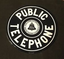 Public Telephone Bell Sign Pennsylvania Telegraph Co AAA Sign Co