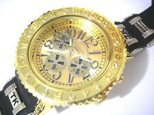 Techno King Bling Bling Rubber Band 7 Color Light Men's Watch Gold Item 3893